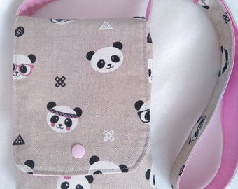 Panda bag, Little girl bag, Girls handbag, fabric bag, gift for girls