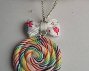 delicious fimo necklace lollipop necklace