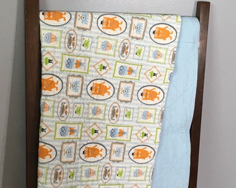 Little monster wholecloth quilt