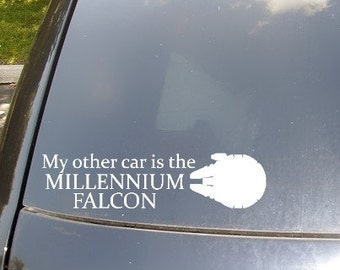 My Other Car is the Millennium Falcon Car Sticker