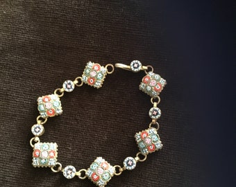 1950's Italian Micro mosaic bracelet