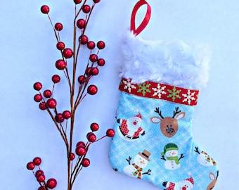 Santa Mini Christmas Stocking- Gift Card Christmas Stocking- Teacher Gifts- Co-worker gifts- Small Christmas Gifts- Gift Card Holder