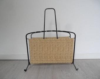 Vintage newspaper rack,magazine holder,rare newspaper stand