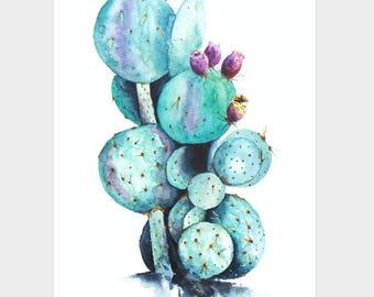 Mini Poster A5 - Cactus Love - Unique Design - SFA