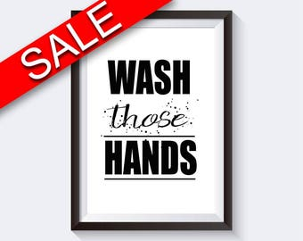 Wall Art Wash Hands Digital Print Wash Hands Poster Art Wash Hands Wall Art Print Wash Hands Bathroom Art Wash Hands Bathroom Print Wash
