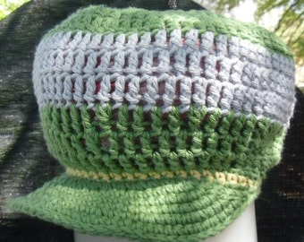 Dread Cap, Sage Green and Dove Gray- Please see Head Size chart in Item Details