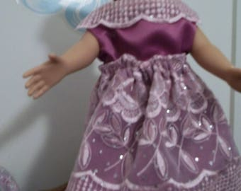"18"" doll Rose under Lace gown 344E"