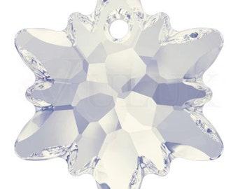 Swarovski 6748 Edelweiss Pendant  28 mm White Opal