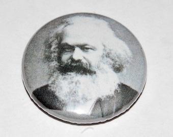 Karl Marx Photo Button Badge 25mm / 1 inch