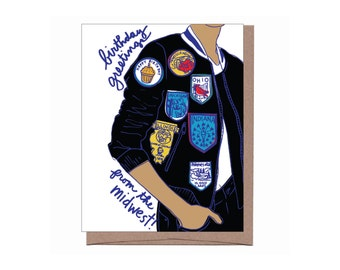 Midwest Patches Birthday Card