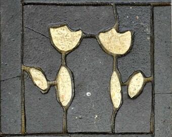 Azulejo flores patrón mosaico arte
