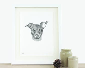 Pet Portrait Bespoke Illustration Custom Drawing Pet Drawing Dog Drawing Cat Drawing Original Artwork Original Ink Drawing