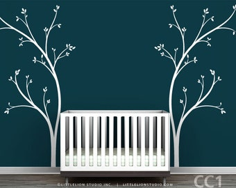 Bed Headboard Wall Decal - Fun, novelty tree decal design - Modern Nursery Decor
