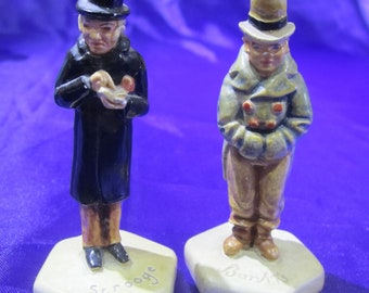 2 P.W. Baston Minatures Barkis and Scrooge