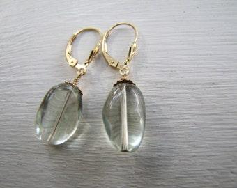 Pretty green amethyst earrings