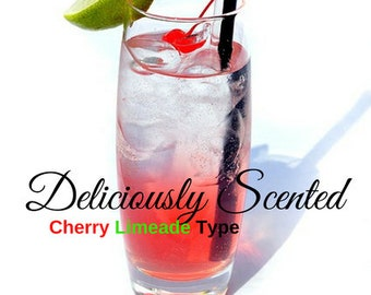 1/2 or 1 oz CHERRY LIMEADE Type Premium Fragrance Oil for candles, soap, perfume oil, cosmetics, soap making, pure, skin safe, supply,sample