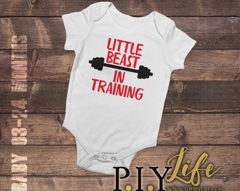 Baby | Little Beast in Training Baby Bodysuit DTG Printing on Demand