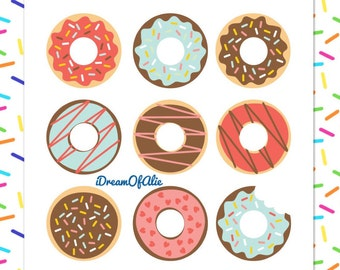 Donuts With Icing and Sprinkles SVG Cut File