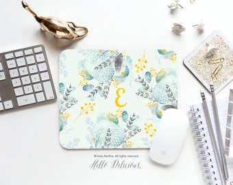 Floral Mouse Pad School Supplies Office Personalized Decor Gift Mousemat Mouse Pads Mousepads Office Desk Accessories Mousepad Mouse Pad 96.