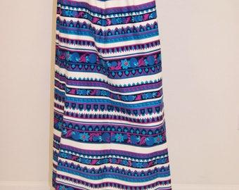 Vintage 60's 70's Mod Stripe Hipppie Maxi Skirt by Pinehurst Lingerie - Medium
