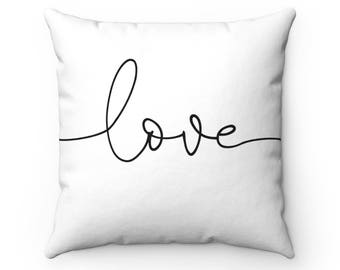 Love Square Pillow With Insert