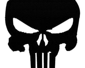 Punisher Skull Embroidery File