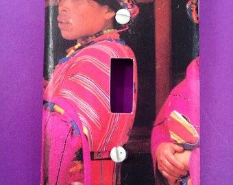 Guatemala Woman with Bright Colors-- Decopauge Light Switch