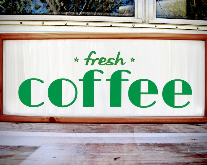 Art Deco Custom Light Box Fresh Coffee Sign