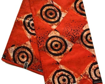 Batik African Print Fabric - Cotton Light Weight Fabric - By the yard - Clothing Fabric  (a1)