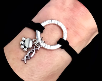 Kitty Cat Xoxo Paw Halo Pet Memorial Cat Halo Bracelet sympathy gifts | pet Beareavement