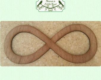 Infinity Symbol -  (Medium) Wood Cut Out - Laser Cut Wood