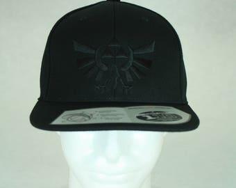 Black on Black Triforce Baseball Cap