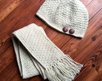 Au Naturale Hat & Scarf Crochet Pattern PDF 225