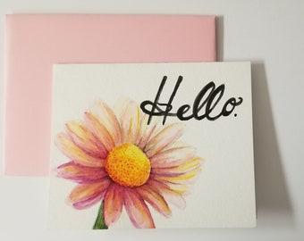 Hello - Blank Notecard