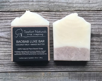 Baobab Luxe Bar - luxury plant-based soap, natural cold process soap, face and body soap