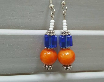 Broncos Themed Earrings