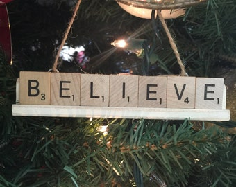 Scrabble Holiday Ornament