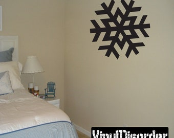 Snowflakes Vinyl Wall Decal Or Car Sticker - Mv001ET