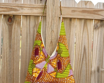 African Print Bag, African Fabric bag, Women's Cross Body Bag, Gifts for Women, Gift for Girls, African Clothing, Sling Bag, Boho Bag