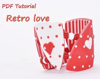 Polymer clay PDF Tutorial Retro Love