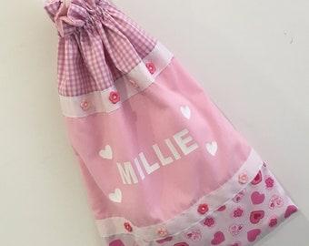 Personalised baby girl Pyjama / laundry bag.