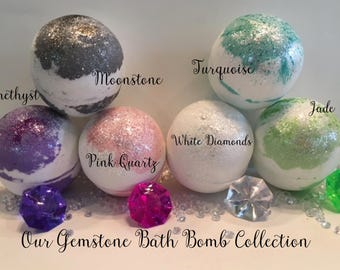 GEMSTONE COLLECTION-Simple No Money Bath Bombs-Choose the Fragrance-we wrap it up-and send it to your Special Someone