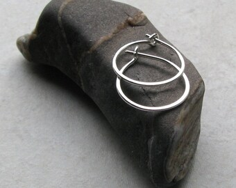 Sterling silver hoops, small second hole earrings, cartilage piercing 1/2 inch