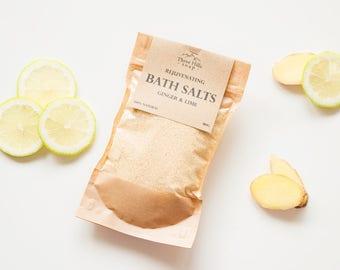 Ginger Bath Salts, Lime Salts, Salts, Bath Salts, Home Spa, Ginger, Rejuvenating Bath Salts, Bath Salts with Milk, Coconut Milk Bath