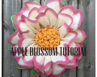Apple Blossom Wreath Tutorial, Wreath Tutorial, DIY Wreath, Julie's Wreath Boutique Tutoria, Tutorial, DIY