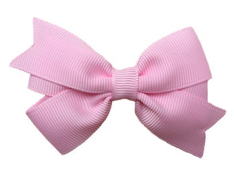 Light pink hair bow - light pink bow, hair bows, baby bows, toddler hair bows, girls hair bows, pink hair bows, hair bow, toddler bows