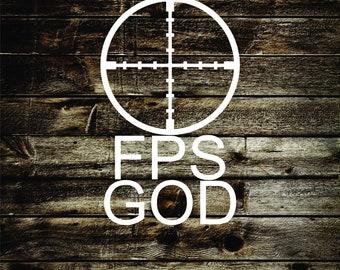 FPS God vinyl decal