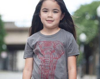 Elephant on Slate  T Shirt Youth Small Medium Large