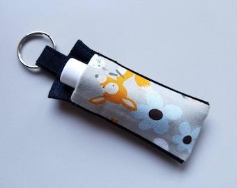 Chapstick Holder Keychain, Lip Balm Holder, Chapstick Holder, Lip Balm Key Chain, Lip Balm Cozy, Woodland Animals, Foxes, Bunnies, Squirrels