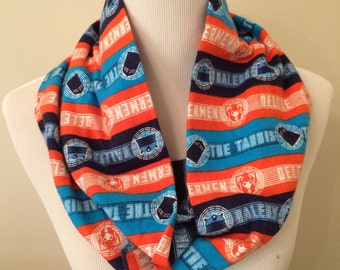 Doctor Who Infinity Scarf, Whovian Flannel Scarf